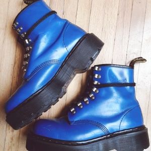 Dope Vintage Blue Docs Platform Tunnel Eye Boot 90